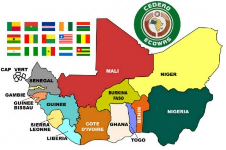 ECOWAS map used to illustrate the story. [PHOTO CREDIT: Nigerian Infopedia]