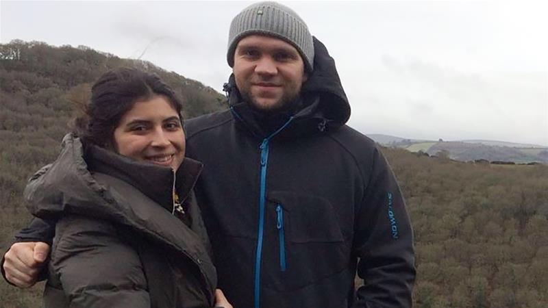Matthew Hedges and wife [Photo: Al Jazeera]