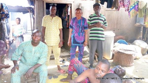 Idle fishermen in Makoko