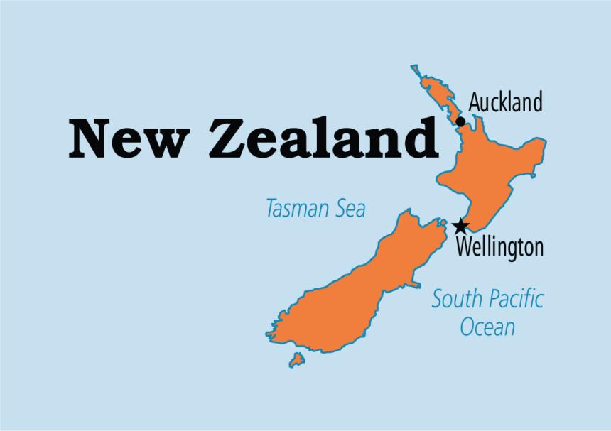 Map showing New Zealand (Photo Credit: Operation World)