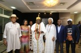 Ooni and wife at Art X Lagos 2018