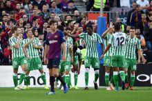 Real Betis beat Barcelona at the Camp Nou