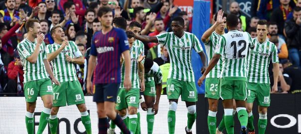 Real Betis beat Barcelona at the Camp Nou