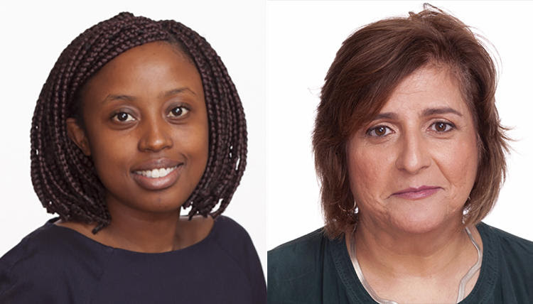 Tanzanian immigration authorities detained CPJ Sub-Saharan Africa Representative Muthoki Mumo, left, and Africa Program Coordinator Angela Quintal in Dar es Salaam on November 7. (CPJ)