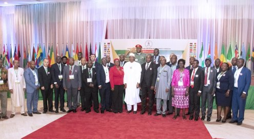 President Muhammadu Buhari declared open the 3- day training workshop on Corruption Risk Assessment (CRA), for the heads of anti-corruption agencies in African Union countries, organized by the ICPC, held at the State House, Abuja.