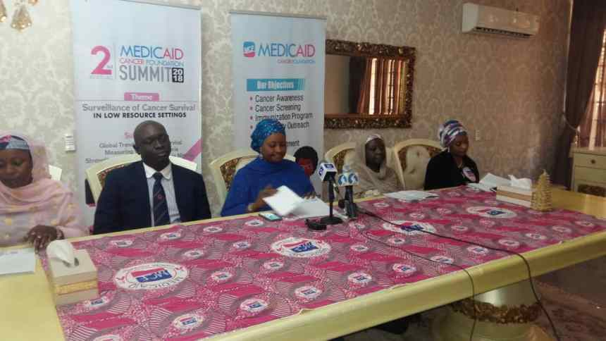 Zainab Bagudu, who is the wife of the Kebbi State governor and the founder of Medicaid Cancer Foundation