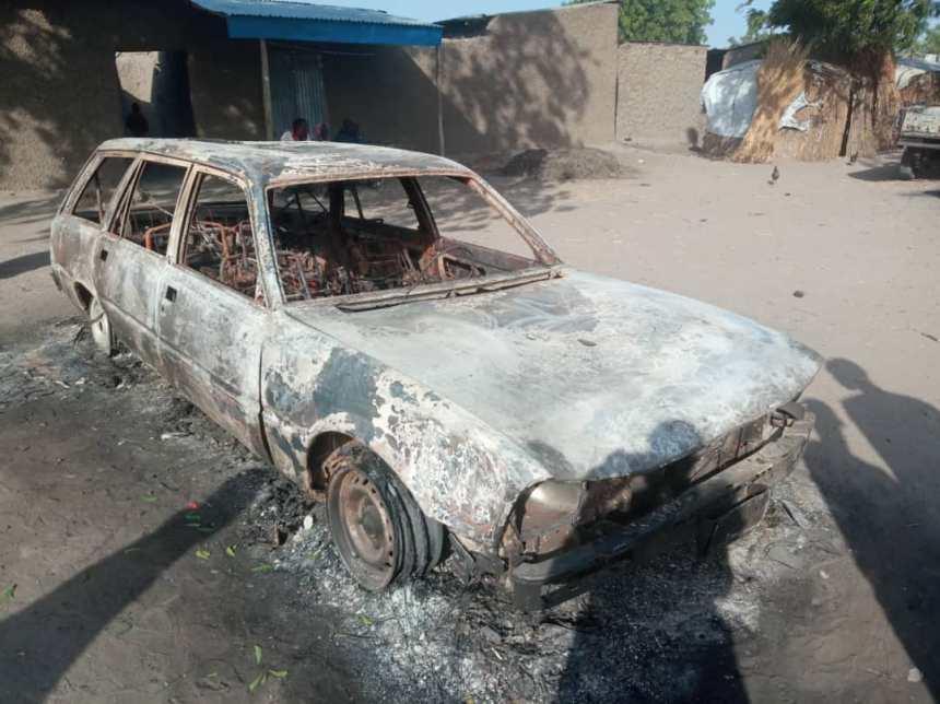 Car burnt in Boko Haram attacks Rann Community