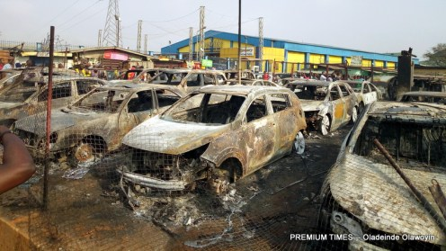 Explosion rocks Abule-egba; cars houses burnt