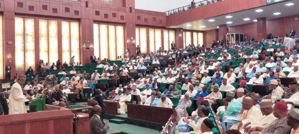 President Muhammadu Buhari at the 2019 budget presentation to the National Assembly