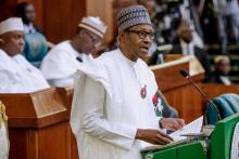 President Muhammadu Buhari presents 2019 budget to the National Assembly (Photo Credit: @brytedude on Twitter)