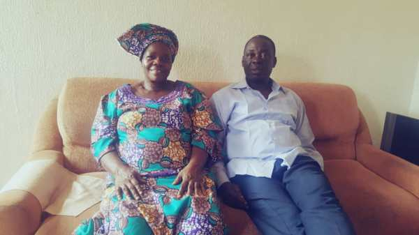 Oluwaseyi's parents, Elizabeth and Joel Adesuyi