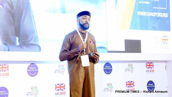 Olubankole Wellington speaking at The Convergence