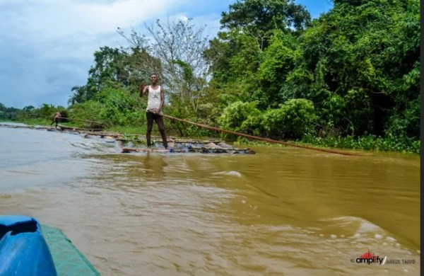 River used for survival by residents