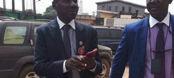 Ibrahim Magu, suspended EFCC Chairman.