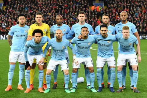 Manchester City team pose for team photo