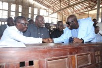 From Left: Delta State Governor, Senator Ifeanyi Okowa,his Bayelsa and Edo States counterparts, Rt Hon Seriake Dickson, and Godwin Obaseki, during the funreral Mass in honour of Late Chief Anthony Anenih at Uromi, Edo State. PIX: BRIPIN ENARUSAI