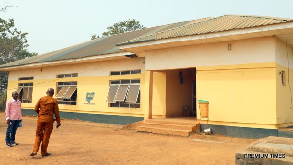 A library at St Vincent's Secondary School, Agbogugu