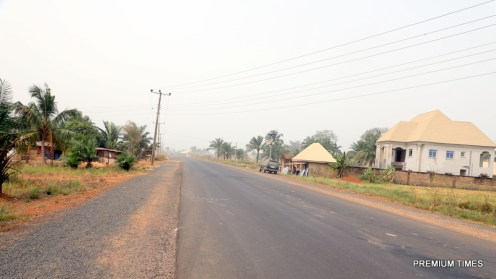 Completed section of Enugu-Port-Harcourt Expressway, Ogontu road with electrification project