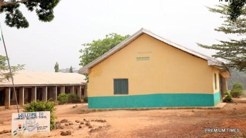 A library at Community Secondary School, Okpanku