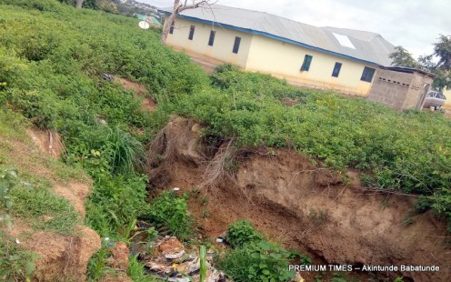 Areas affected by Flood and Erosion in Kishi