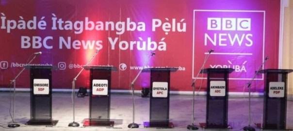 Kwara Elections: Accord, ANRP, Labour party candidates debate. [PHOTO CREDIT: BBC Yoruba]
