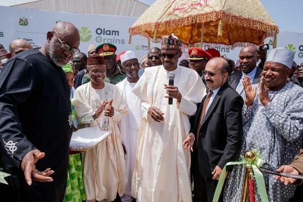 Buhari and El-Rufai Olam Commissioning