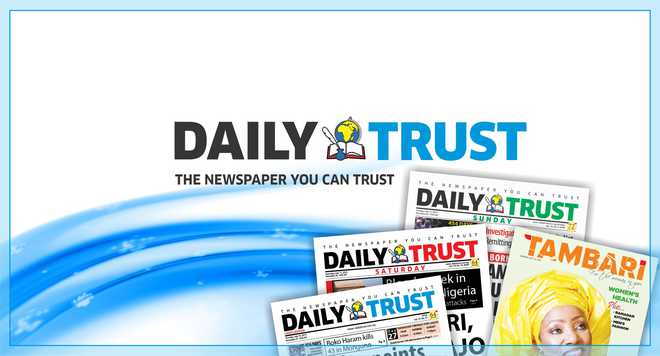 Daily Trust banner used to illustrate the story. [PHOTO CREDIT: www.dailytrust.com.ng]