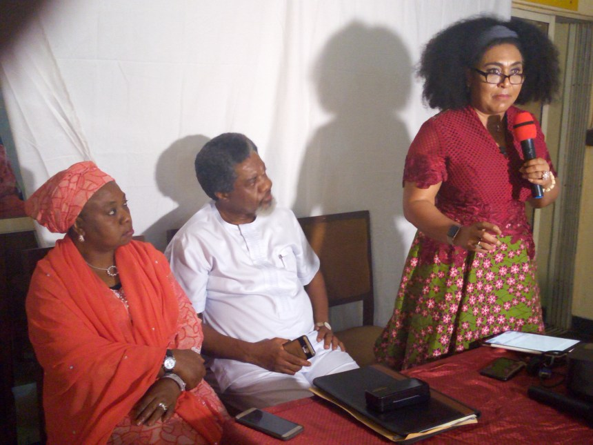 Fatimah Abdulkadir, Ralph Nwadike and Hilda Dokubo pictured at the NFVCB training in Lagos