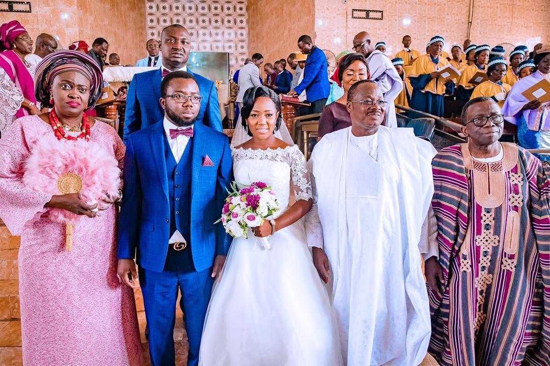 Adedayo, the son of the Minister of Health, Isaac Adewole, wedded his sweetheart, Ebunoluwa Oyedele, in Ibadan on Saturday.