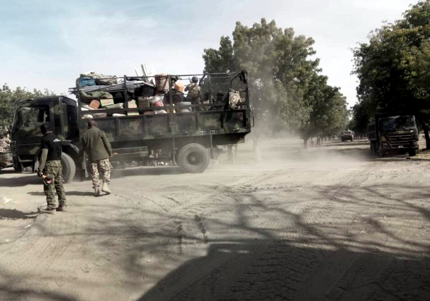 Images of the Nigerian Army as they reclaim Baga from Boko Haram sect. [PHOTO CREDIT: SANI KUKASHEKA USMAN, Brigadier General, Director Army Public Relations]