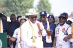 Governor Udom Emmanuel during the launch of his campaign manifesto on Wednesday in Uyo