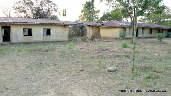 The dilapidated part of the school