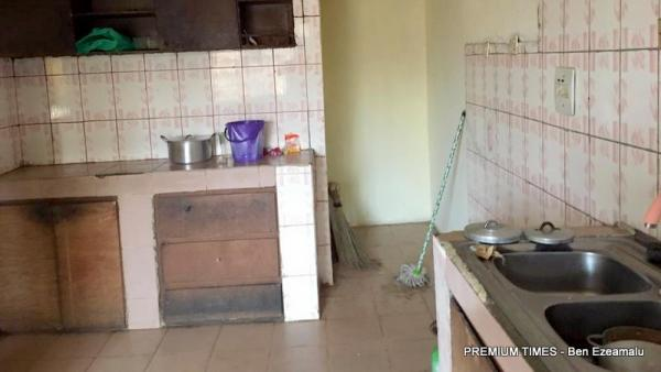 A kitchen in the hostel where the ex-militants are kept.