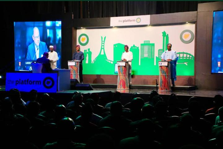Lagos governorship candidates at The Platform Governorship Debate (Photo Credit: Punch Newspaper)