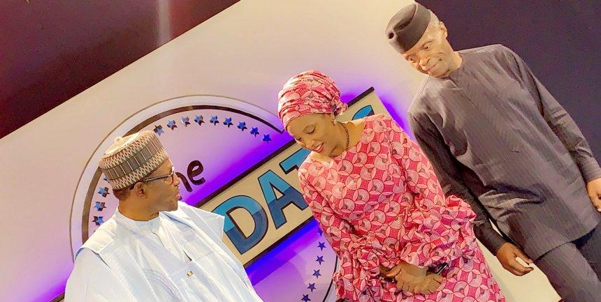 President Muhammadu Buhari and Vice President Yemi Osinbajo at the Town Hall meeting
