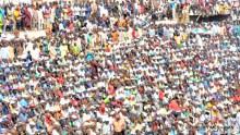 Pic 30. APC Presidential Candidate, President Muhammadu Buhari (L) with Kaduna State APC Gubernatorial Candidate, Gov Nasir El-Rufai during APC Presidential rally at Ahmadu Bello Stadium in Kaduna on Friday (18/1/18)