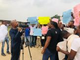 Protest asking for the reinstatement of suspended CJN, Walter Onnoghen
