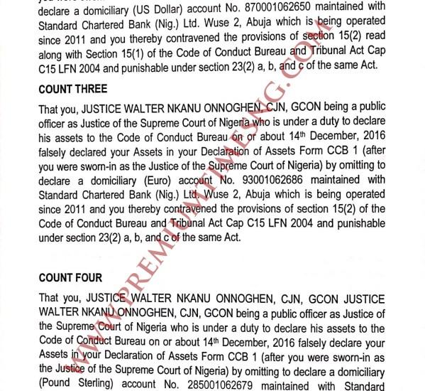 Code of Conduct Tribunal Trail on CJN Walter Onnoghen