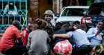 Special forces protect people at the scene of an explosion at a hotel complex in Nairobi. [PHOTO CREDIT: Irish Times]