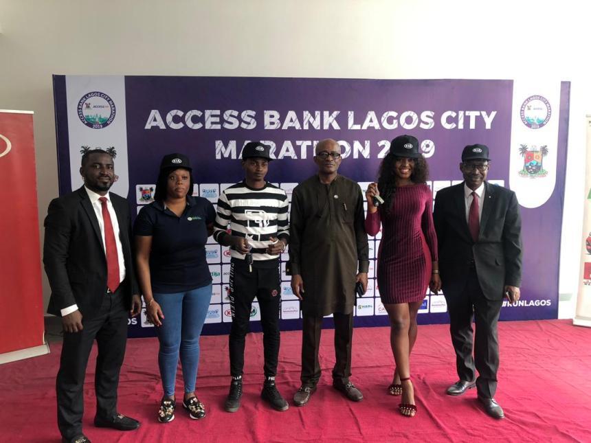 Winners of the 10km Lagos City Marathon