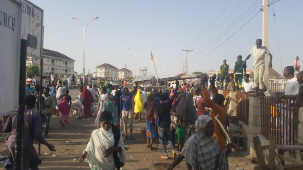 Internally Displaced Persons (IDPs) protesting.