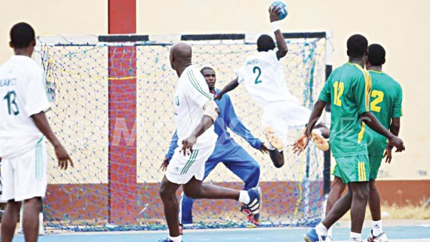 Nigerians Playing Handball used to illustrate Story
