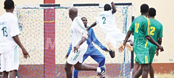 Nigerians Playing Handball used to illustrate Story