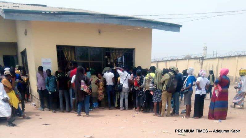 Corp members receiving their allowances