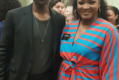 Omotola Jalade and Seun Kuti