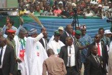 President Muhammadu Buhari at the Eagle Square