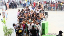 BBNaija hopefuls defy downpour to attend Lagos audition