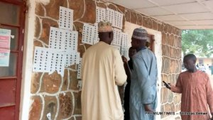 Voters are already at their polling units around Bauchi metropolis waiting for the arrival of INEC officials.