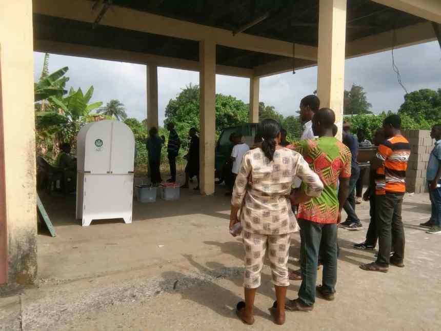 10:30 Voting layout of ward 2 unit 3, Brass LGA, Bayelsa