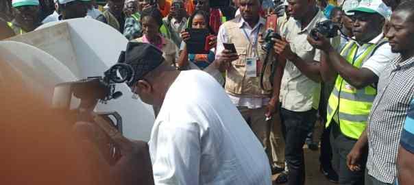 Senator Philip Aduda voting